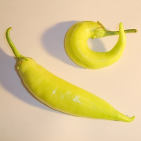 banana  peppers from garden